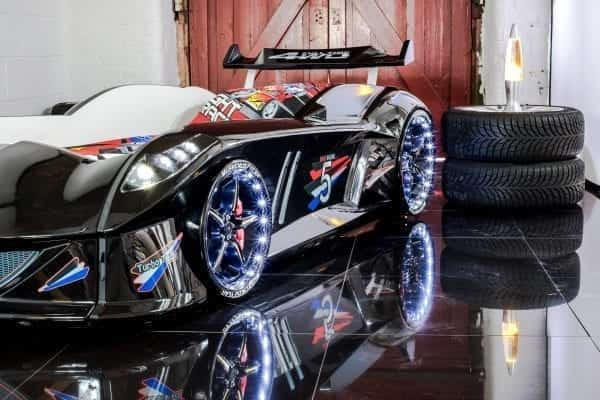 Thunder Racing Car Bed - Black