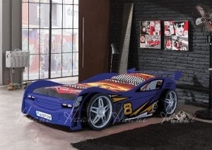 Flash Racing Car Bed Blue