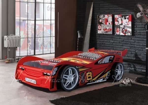 Flash Racing Car Bed Red White