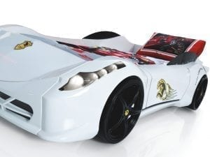 Ferrari 458 Race Car Bed - White