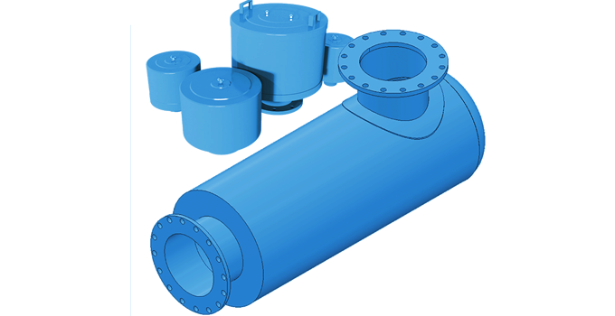 Inlet filter and outlet silencers