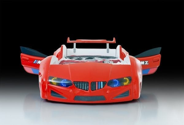 BMW RED SPOILER DOORS OPEN
