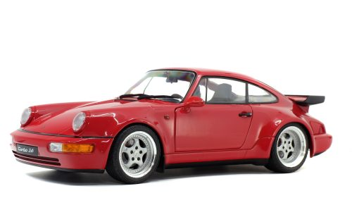 Solido 1:18 Porsche 911 964 Turbo 3.6 Coupe Red Indian 1990 S1803402 Model Car